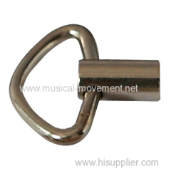 SILVERY TRIANGLE KEY FOR CLOCKWORK MUSIC BOX