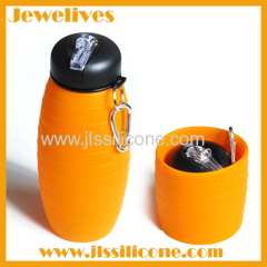 Idea from silkworm chrysalis silicone sport bottle