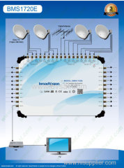 Terr.:47~862MHz SAT:950~2150MHz stand-alone 17/20outputs satellite multiswitch in 4 satellite dishes in broadcasting