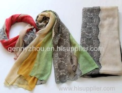 Printing scarf polyester scarf