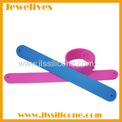 Colorful OEM and ODM silicone slap wristband