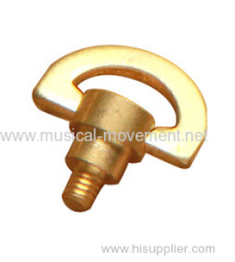 Miniature Wind up Music Box Parts Crescent Male Key