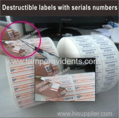 Factory Supply Qr Code Anti Counterfeiting Sticker