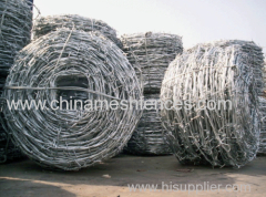 high quality two main line zinc coating stranded barbed wire