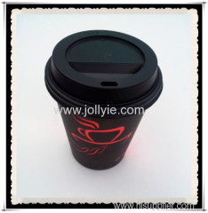 8oz disposable coffee paper cups with cup lids