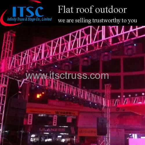 Outdoor event 15x15m flat roof truss system