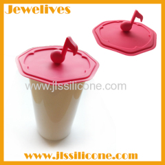 Music note silicone lid