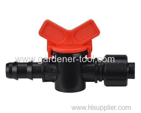 garden micro valve with ball valve.