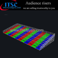 24x10m Portable audience risers seating system for indoor and outdoor events