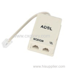 USA Type Simplex Rj11 ADSL Modem Splitter
