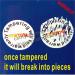 dia2cm logo printing warranty tag stickers