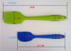 Silicone Batter Spatula Scraper Cake Tool Kitchen Accessory Colors for Christmas 205mmLength
