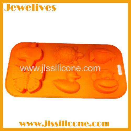 6 cute shapes silicone cake mold