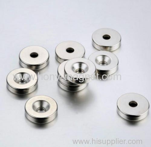 Ni coating neodymium countersunk magnet