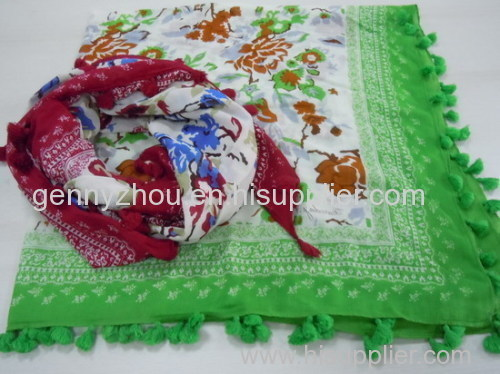100% Cotton scarf Printed scarf