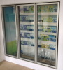Vertical freezer glass doors with LED lights for commercial refrigerators