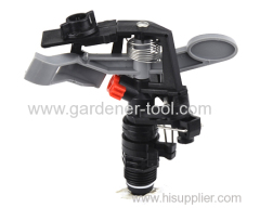 Plastic rotary impulse sprinkler