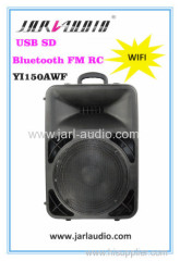 wifi PA plastic speakers with MP3 player/bluetooth/FM/RC