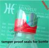 dia2cm circle clear vinyl label bottle security seals