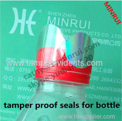 custom PVC/PET transparent bottle sticker