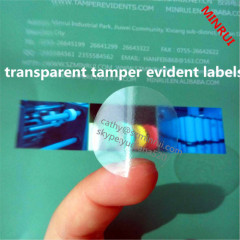 custom clear hologram vinyl labels