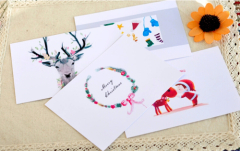 Simple Christmas cards for student