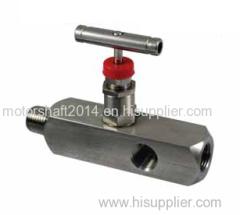 Stainless steel multi-port needle valve