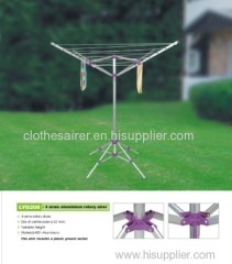 4 Arms portable rotary clothesline dryer