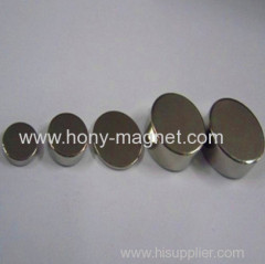 Ni coating sintered cylinder ndfeb magnet
