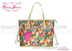 Modern Colorful Womens Floral Canvas Bag tote handbags for Summer