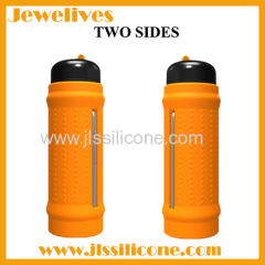 Silicone travel bottle hold Iphone