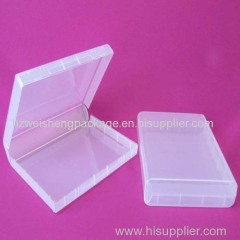 Clear plastic storage case