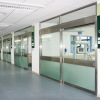 manual hermetic sliding glass doors for ICU