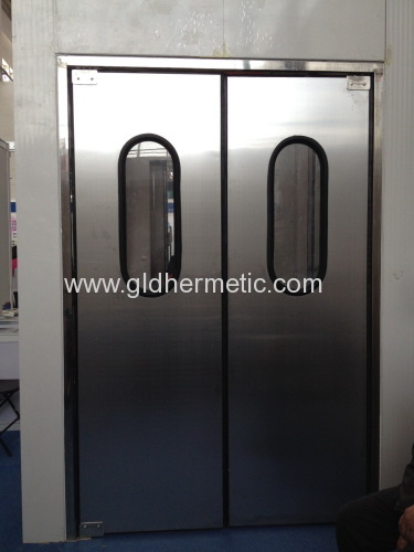 stainless steel double action swing doors with stainless steel ... on