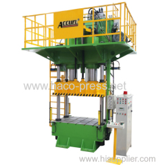 Manufacture of Four column Hydraulic Press 1000 tons Deep Drawing press 1000t Four column deep drawing press 1000 tons