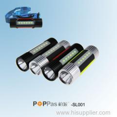 New Promotion Multi-function CREE XP-E R2 High Power LED Flashlight POPPAS-SL001