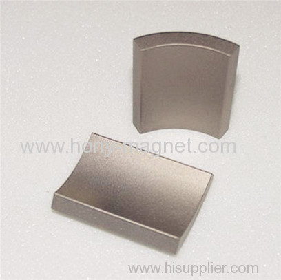 Arc shape sintered neodymium wind rotor magnet