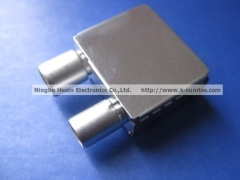 IEC male and female connector with shielding case