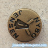 19L brass snap button