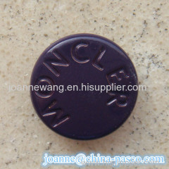 15mm metal button for leather