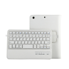 Tablet keyboard with leather case for ipad mini 3