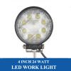 24W LED Work Light 8PCSx3W LED Driving Light Spot Flood LED Work Lamp for Offroad Truck