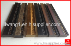 PS photo frame moulding / synthetic wood photo frame moulding