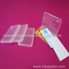 Portable plastic name card case