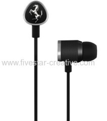 Ferrari by Logic3 G150i Black In-Ear Headphones with Inline Microphone for Apple