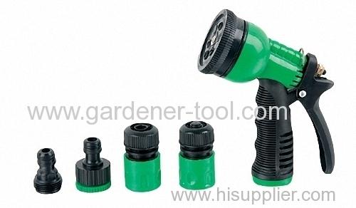Plastic Garden Hose Nozzle Set
