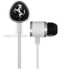 Logic3 G150i Scuderia Ferrari Collection Earphones in White with 3 Button Remote