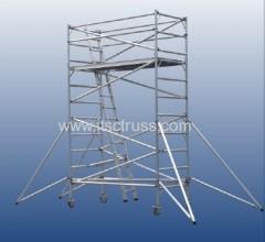 Aluminum scaffolding double width cliimb ladder scaffolding