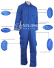 brilliant blue cotton-padded flame retardant coverall