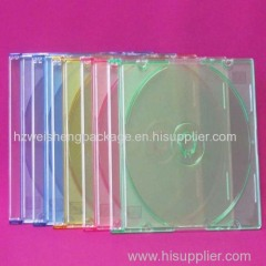 small 5.2mm super clear plastic PS cd case